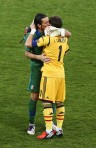 The world's greatest goalkeepers, Iker Casilas and Gigi Buffon. Photo: Getty via Zimbio.